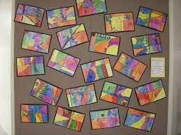 artolazzi first grade line paintings