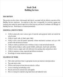 Receiving Clerk Job Description Resume Stock Clerk Resume Jobs Billybullock Us