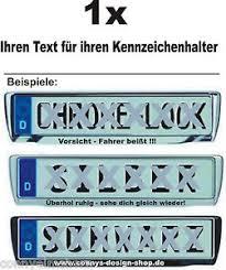 autoaufkleber sprüche 1 aufkleber für kennzeichenhalter mit ihren text autoaufkleber