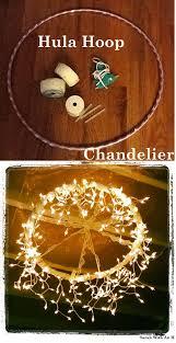 40 cool diy ideas with string lights hula hoop chandelier diy
