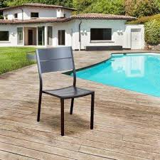 Outdoor Dining Area With No Chairs No Additional Features Armless Outdoor Dining Chairs Patio