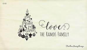 merry christmas love calligraphy stamp christmas card