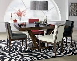 standard furniture elegance 6 piece pedestal dining table