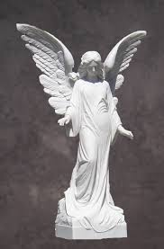 Angel Sculptures Italian Hand Carved Marble Angel Statue