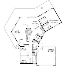 courtyard house design plan boasts a triangular shape with
