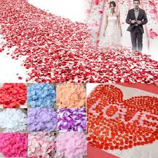 real petals ourwarm 1000pcs wedding flowers silk petals real touch