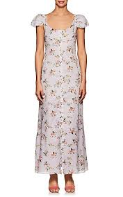 sleeve maxi dress brock collection floral print cotton cap sleeve maxi dress