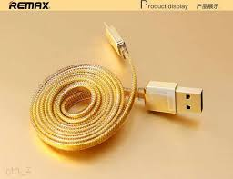 best remax gold color micro usb cable fast charing double sides