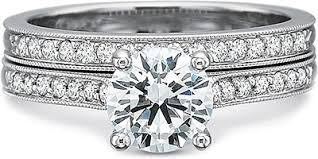 precision set rings precision set flush fit milgrain diamond engagement ring 7206
