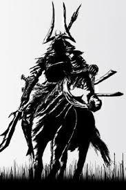 samurai sketch iphone wallpaper art japan bushido pinterest