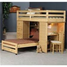 Bunkhouse Twin  Full Roundup Loft Bed By Trendwood Bunk Bed - Trendwood bunk beds
