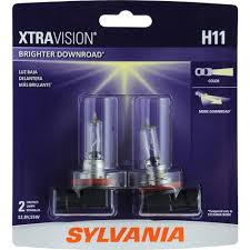 sylvania h11 xtravision headlight contains 2 bulbs walmart com