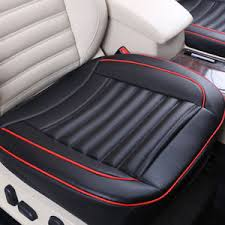 Universel Housse Siège Coussin Pad Pour Voiture Auto Noir Pu Cuir Voiture Auto Siège Coussin Housse Cover Couvre Pad