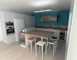 cuisine bleu petrole cuisine blanche mur bleu inspirations et cuisine bleu petrole des