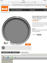 dark grey bathroom paint urban obsession by dulux paint colours
