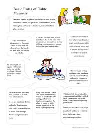table manners for kids printable table manners worksheet free esl printable worksheets made by teachers