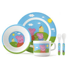 peppa pig 5 piece dinner set mealtimes robins kitchen