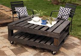 make a wooden table for garden recycled pallets big solutions