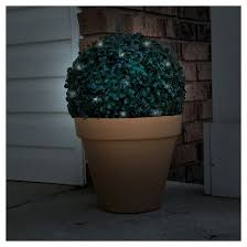 garden topiary solar light 20 white led lights target