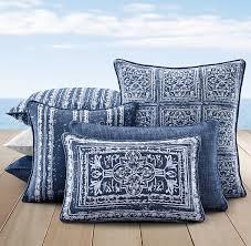 Patio Pillow Covers Gorgeous Blue Pillows For Your Patio Perennials Corsica Outdoor
