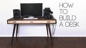 Diy Modern Desk Diy Mid Century Modern Desk How To Modern Builds Ep 60