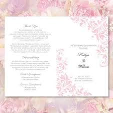 catholic mass wedding program catholic church wedding program kaitlyn pink wedding template shop