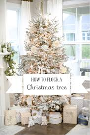 how to flock a tree diy easy steps to flock a tree