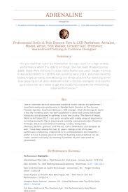 dance resume template best business template