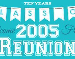 high school reunion banner class reunion banner etsy