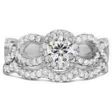 Cubic Zirconia Wedding Rings by Designer Infinity 2 Carat Round Shape Cubic Zirconia Wedding Ring