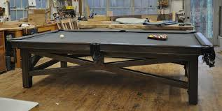 slate base pool table a custom steel and wood pool table finewoodworking