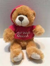 get well soon teddy get well soon plush ebay