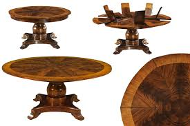 formal jupe table round mahogany diningg table with leaves