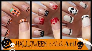 halloween nail art three french manicure designs