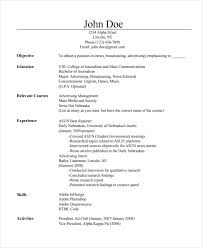 Resume Topics Journalist Resume Template 5 Free Word Pdf Document Download