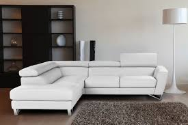 Cheap White Leather Sectional Sofa Living Room Design Cozy White Leather Sectional For Small Spaces