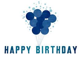 birthday card blue beautiful birthday card background vector