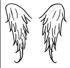 simple angel wings drawing 14 pics of coloring pages cross with