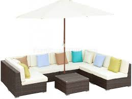 wicker pastel color cushion outdoor sectional sofa set equipped