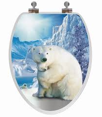 Oblong Toilet Seat Polar Bear 3d Image Toilet Seat Elongated Potty Training Concepts