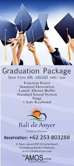 graduation packages hotel in anyer bali de anyer hotel restaurant spacial packages