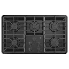 Ge 36 Gas Cooktop Ge 36 In Built In Gas Cooktop In Black With 5 Burners Including