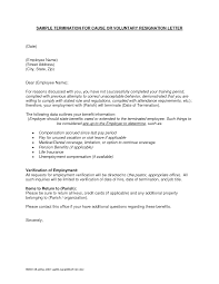 Cancellation Letter Policy Termination Letter Sample 02 Cause Based Termination Letter