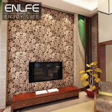 enlfe personalized wall paper modern and stylish wood rings