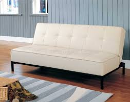 Convertible Leather Sofa by 4790pu Elegant Convertible Sofa Bed In Cream Vinyl By Homelegance