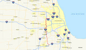 Zip Code Map Illinois by Interstate 355 Wikipedia