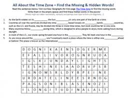 the time zone worksheet science activities for kids worksheets