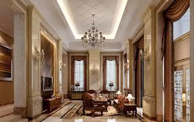 3d interior living room villa european style 3d house