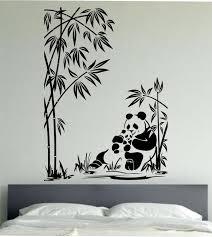 panda wall decal panda family sticker art decor bedroom design