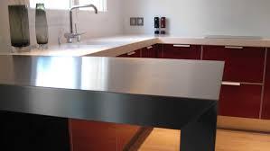 table de cuisine sur mesure ikea plan de travail en inox ikea galerie et credence inox cuisine ikea